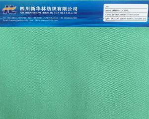 涤棉染色纱卡T/C 63/35 19.5x19.5 108x58