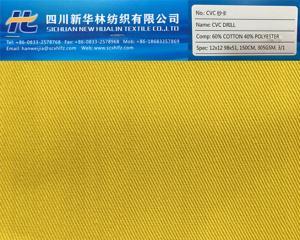 涤棉染色纱卡 CVC 60/40 12x12 98x51 305GSM